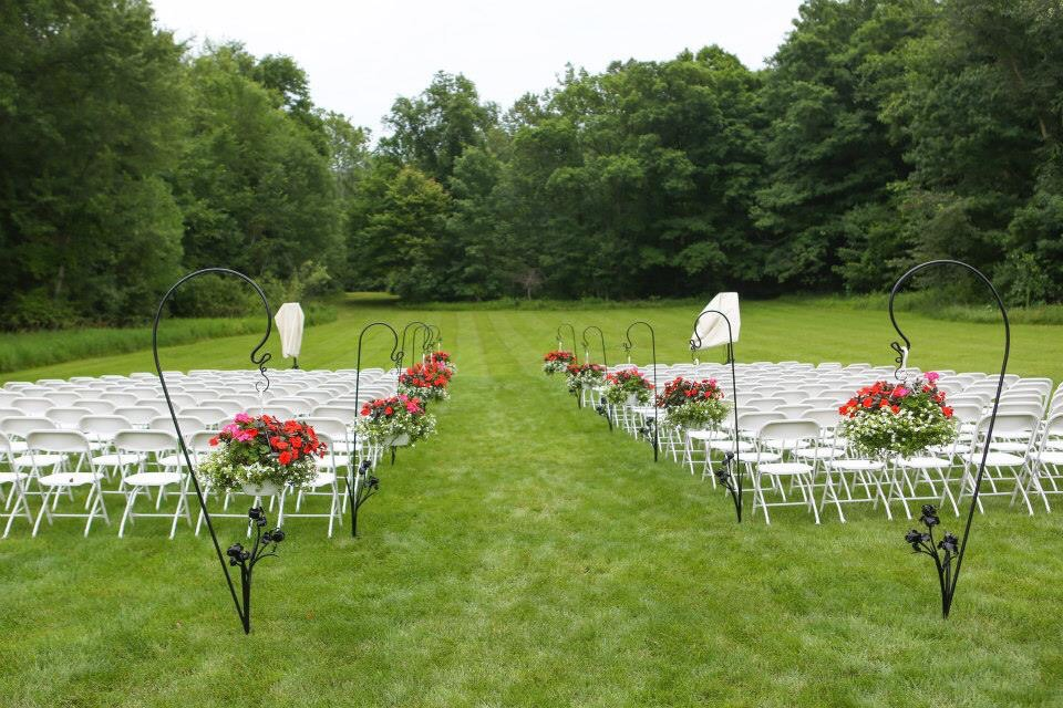 Outdoor wedding set up