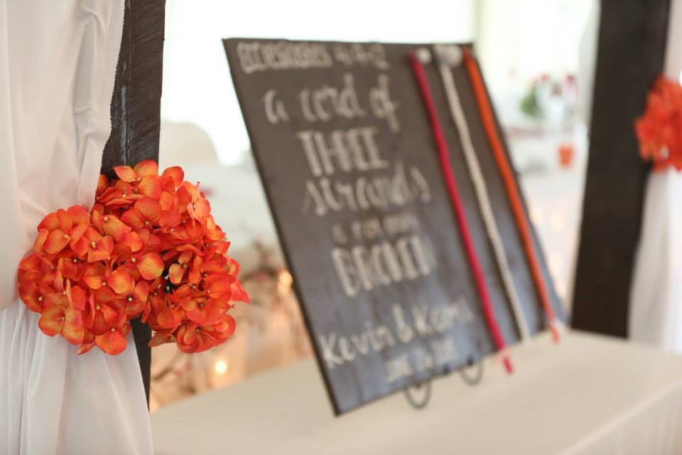 Unity Ceremony Ideas for a Wedding. A cord of three stands is not easily broken.