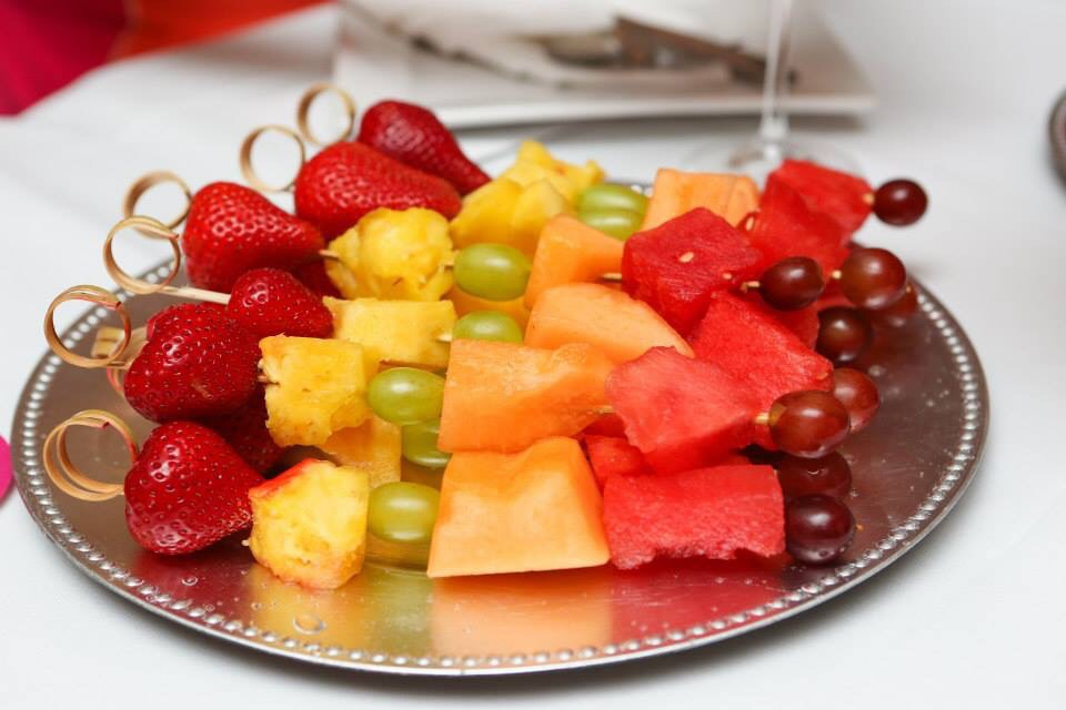 Fruit Kabobs for a wedding